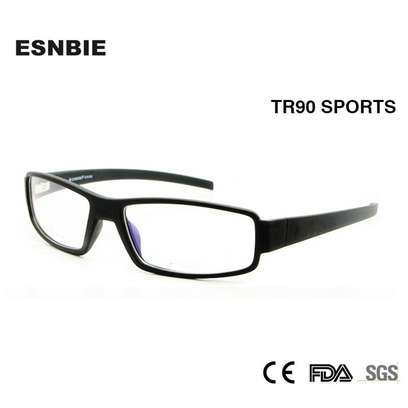 ESNBIE Nouveau Lunettes Cadre Hommes TR90 Flexible Optique Cadre 6 Base  Carré Lunettes Cadres Effacer Objectif De Mode De 9c4779584e73