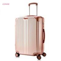 CUWHF путешествий essential 20 дюйм(ов) Универсальный колеса тележки случае багаж женщина прокатки чемодан саквояж на колесах