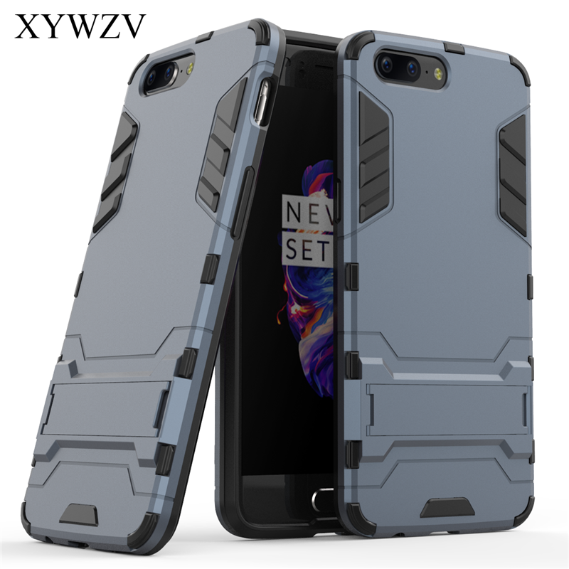 For Cover Oneplus 5 Case Silicone Robot Hard Rubber Phone One plus 1+5 A5000 Coque XYWZV