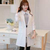 2017 Fall Women's Elegant Jacket Solid Color Sleeveless Casual Blazer Ladies Business Outwear Black White Blue Overcoats
