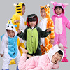 Newest Child Pajamas All In One Pyjama Animal Suit Cosplay Girl Winter Garment Cute Cartoon Animal