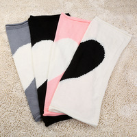 Baby sleeping blanket air conditioned knitted blankets love quilts girls and boys baby towel acrylic 100*70cm 4 colors choose