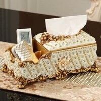 European multi purpose storage tissue box luxury creative living room coffee table upscale box