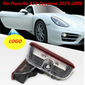 Plug and Play CAR LED door lamps logo projector 3D welcome Ghost shadow laser light bulb for Porsche 911 Cayenne 2011-2016