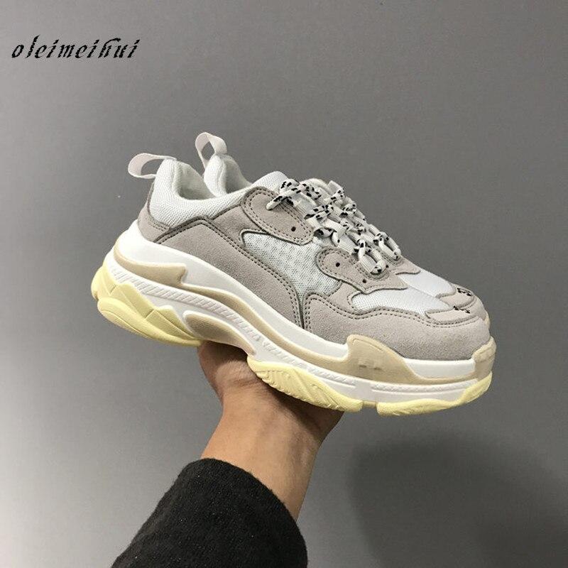 Zapatos de plataforma de Mujer con aumento de altura Tenis zapatos femeninos zapatos de Mujer Zapatillas Mujer Casual Mujer 2018 Sapatos 36-44