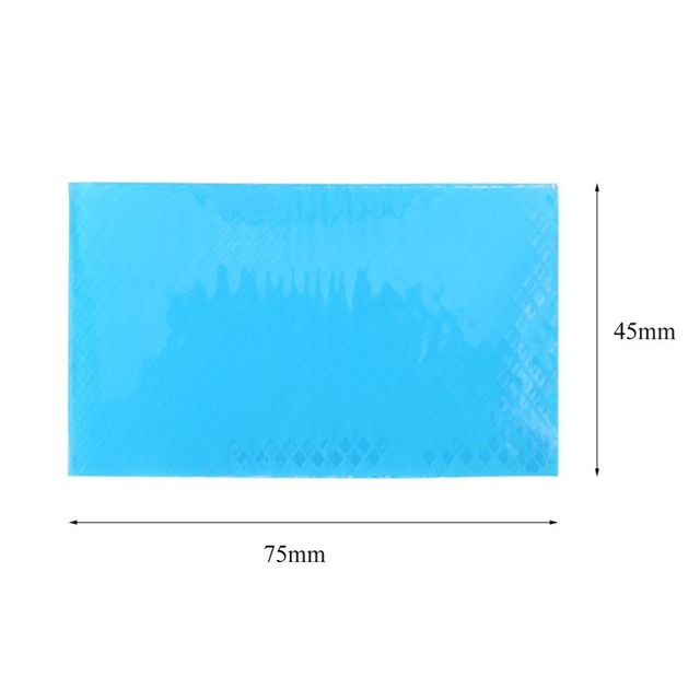 4.5x7.5cm Silicone Removal Patch Reusable Acne Gel Scar Therapy Silicon Patch Remove Trauma Burn Sheet Skin Repair Blue Color 5