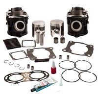 For Yamaha Banshee 350 Std. Cylinder Top End Kit w/ Piston Gasket Rings 87 2006 2GU113110000, 2GU113210000