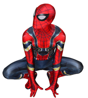 Movie Iron Spider Man costume 3D Print Lycra Spandex Spiderman Homecoming Costume Bodysuit Halloween cosplay Jumpsuits