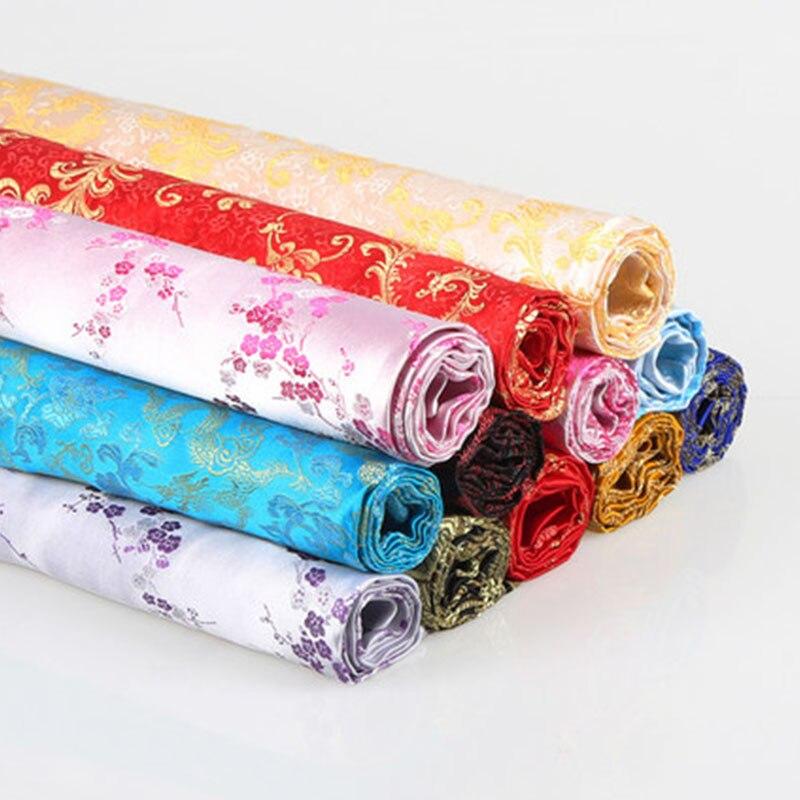 1 pc 50 cm * 90 cm épais tissu de brocart chinois tissu de Satin de mariage tissu de Satin pour la couture et la décoration