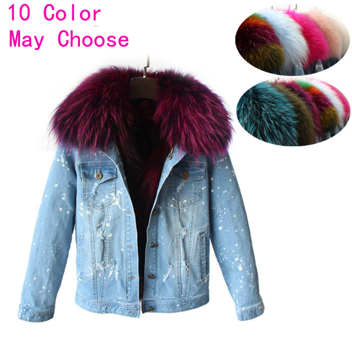 Grand Réel Manteau Femmes Tip Outwear Laveur Black Coréen 100 pink Veste gray Army Raton natureal Green D'hiver Blue Denim Parkas white Renard Tip De Collier sky Blue sky Naturel Doublure navy Red rose Color Tip Fourrure colorfull 2017 Jeans Blue pink rose purple Red PvtIqxv