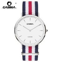 Brand Unisex Quartz Wristwatch Popular Elegant Simple Design Colorful Nylon Strap Watch Fashion Casual Style Watch