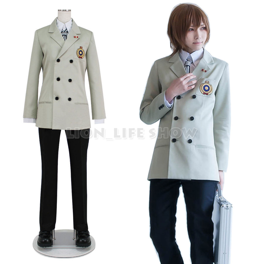 Persona 5 P5 Goro Akechi School Uniform Suit Cosplay Costume Outfit Customize