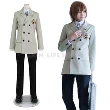 Persona 5 p5 goro akechi escola uniforme terno cosplay traje roupa personalizar