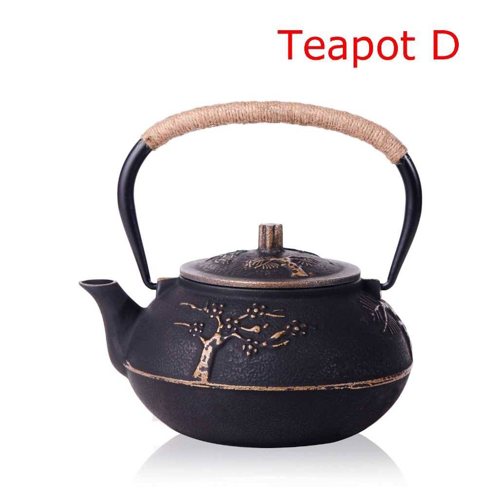 New 7 Chioces Cast Iron Teapot Set Japanese Tea Pot Tetsubin Kettle Enamel 900ml Kung Fu Infusers Metal Net Filter Cooking Tools 13