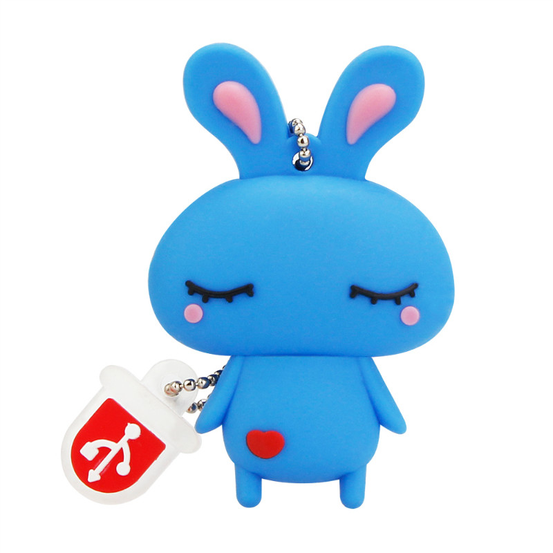 Image 4 - Usb Flash Drive 4GB 8GB 16GB 32GB Cute Mini Pink Rabbit Cartoon Animal Pendrive High Quality Silicone Usb2.0 Pen Drive Best Gift-in USB Flash Drives from Computer & Office