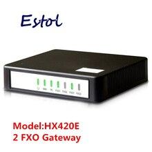 Newrock passerelle VoIP pas cher 2 FXO SIP, adaptateur VoIP analogique facile à configurer. compatible Elastix, certifié Mitel ATA