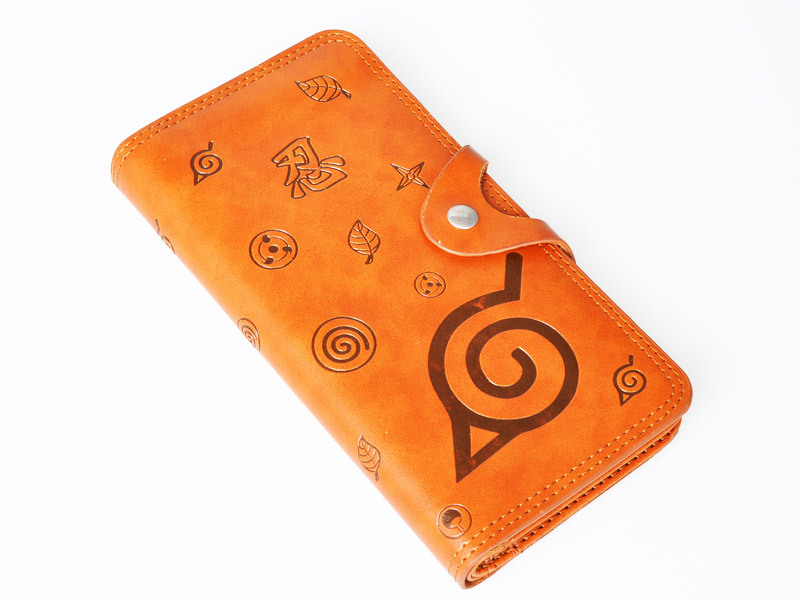 Naruto Konohagakure Brown Wallet For Cosplay Mp001696