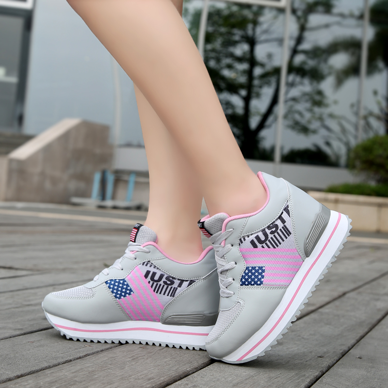 8fc676d4c4268 zapatillas deportivas mujer zapatos 2017 Hot new woman walking shoes  running shoes woman jogging shoes basket femme sneakers-in Running Shoes  from Sports ...