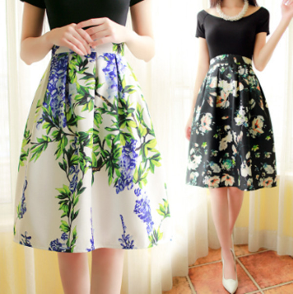 Knee Length High Waisted Skirt - Dress Ala