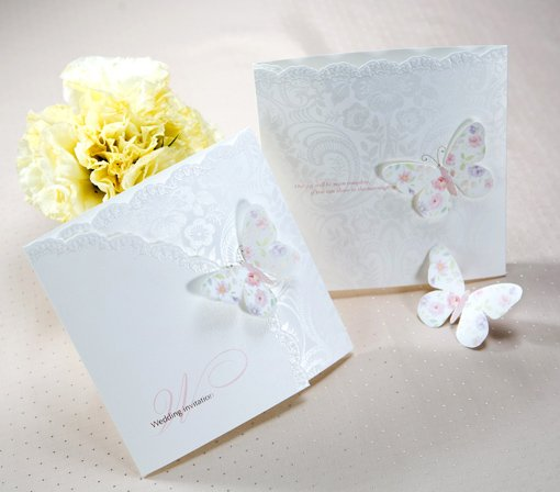 2011 Neue Design Einladungskarte/Hochzeit Einladung/schmetterling Kunst  Prägen Papier Mit Envolope/maßgeschneiderte