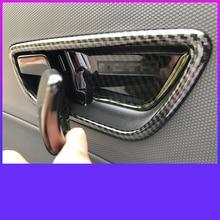Lsrtw2017 Abs Car Inner Door Panel Handle Frame Trims for Hyundai Encino Kona 2018  2019 2020