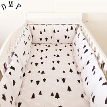 Promotion! 6PCS Cartoon baby bed around baby bedding set piece 100% unpick and wash  (bumpers+sheet+pillow cover)