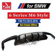 F06 Rear bumper diffuser For BMW 6-Series F06 640i 640d 650i m6 Style carbon fiber m tech m-sport & m6 car Rear bumper 2012-2016 5 series carbon fiber rear bumper lip spoiler diffuser for bmw f10 m sport sedan 2012 2016 d style grey frp dual exhaust two out