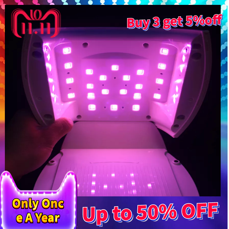 60 W lumière rouge rapide Nial sèche-linge SUN A6 Led UV lampe sèche-ongles pour ongles Gel vernis manucure avec minuterie bouton capteur ongles Art outils
