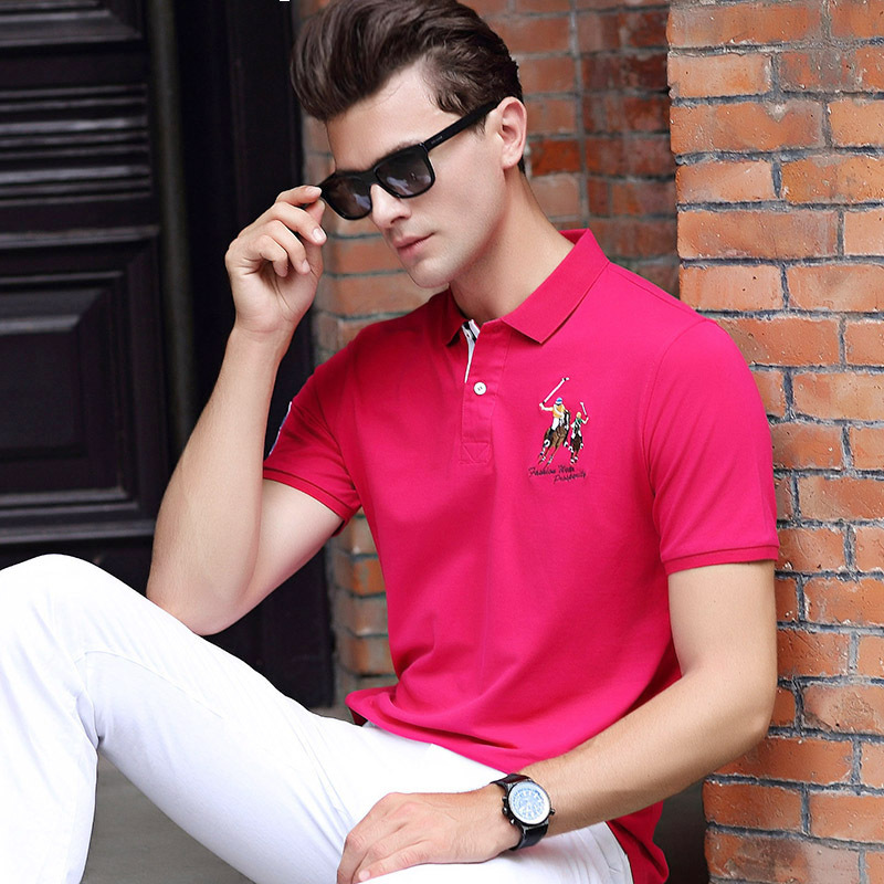 2019 Mens   Polo   Shirt Brands Camisa   Polos   Shirt Men Breathable 100% Cotton Casual Short Sleeve   Polo   Shirts Men   Polos   Man Homme