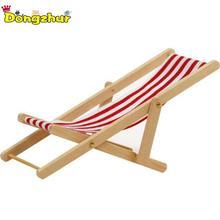 Dongzhur мини пляжный стул красный/синий белый полосатый 1:12 деревянный кукольный домик кукольный дом практичный милый открытый шезлонги WWP3911