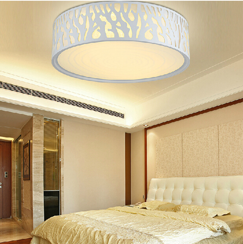 Free Shipping Led Ceiling Light Round Lamp Acrylic Cover For Living Room Decoration