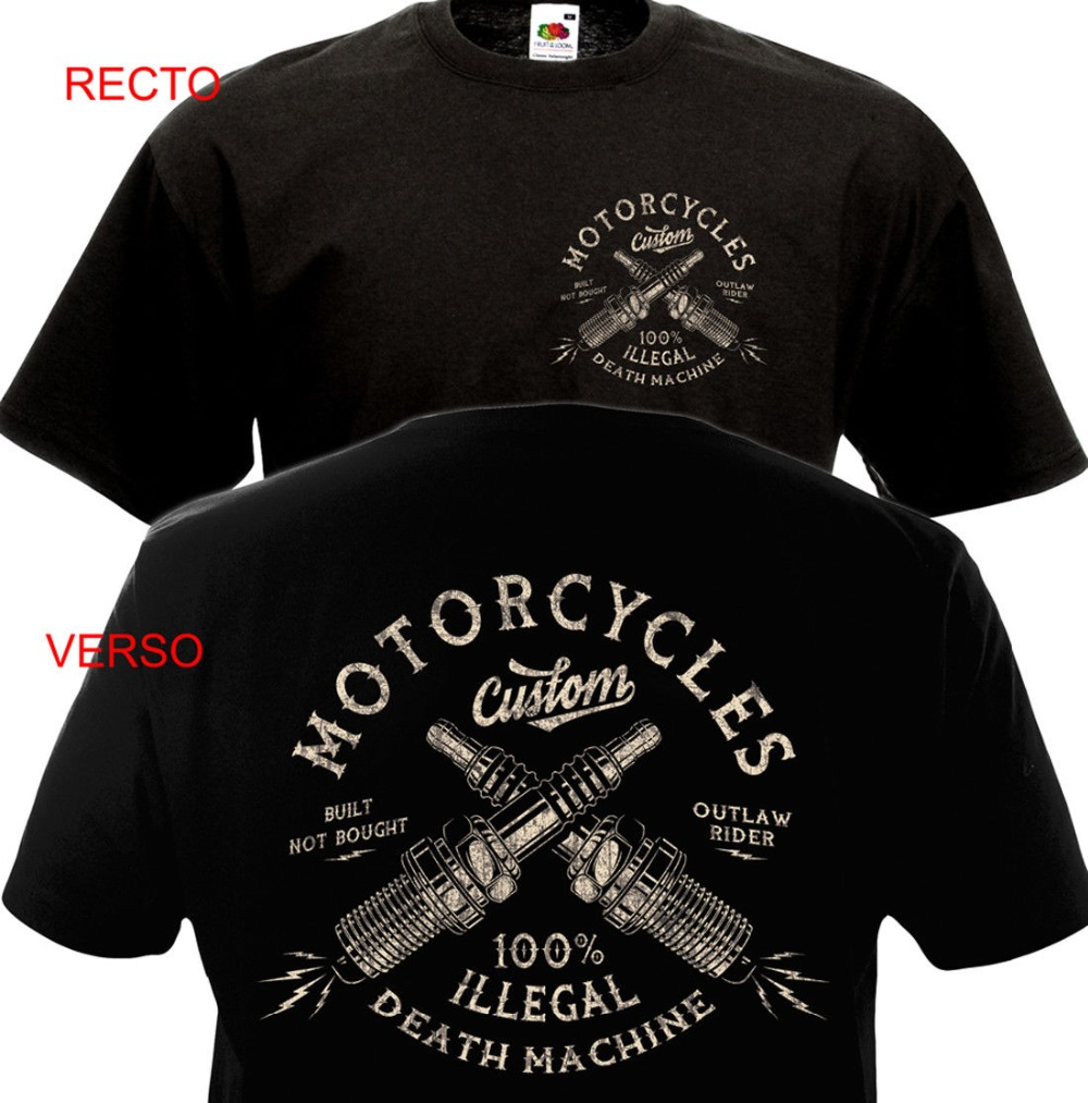 Vintage Motorcycles Custom Biker Chopper Bobber Motard Motorrad Homme 2019 New Print T Shirt Mens Short Sleeve Hot Band T Shirts