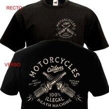 ¡Novedad de 2019! Camiseta de manga corta para hombre con estampado de motociclista de estilo Vintage
