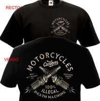 Vintage Motorräder Custom Biker Chopper Bobber Motard Motorrad Homme 2019 Neue Druck T Shirt Herren Kurzarm Heißer Band T shirts