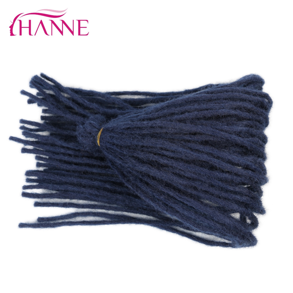 HANNE one pack 22 Crochet Braids Burgundy blue brown orange 55g/pack Dreadlocks Synthetic Hair Extension For Black Women Or Men