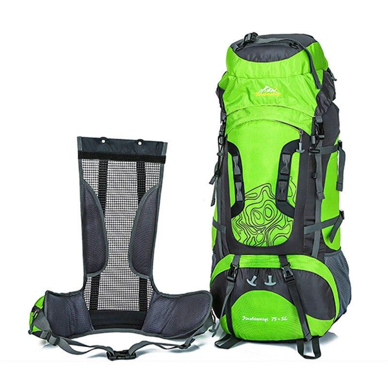 80L grand sac à dos extérieur unisexe Nylon sacs de voyage Camping randonnée escalade ski sacs à dos sac à dos étanche sac de Sport