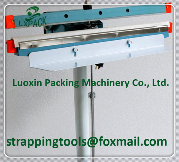 цены LX-PACK Lowest Factory price heating sealer Aluminum structure 300-1400m pedal sealer band sealer kraft paper bag heat sealer