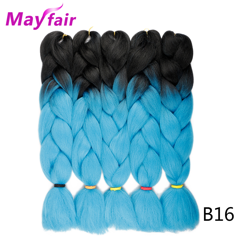 Jumbo Braids Aspiring Mayfair 24inches Ombre Kanekalon Jumbo Braiding Hair 100g/pack Synthetic Crochet Braiding Hair Extensions 5packs Blue Pink Braid To Suit The PeopleS Convenience Hair Extensions & Wigs