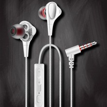 Double Unit Drive In-Ear Headphone Bass Subwoofer Stereo Earphones With Microphone Sport Running Earbuds For Apple Phone Xiaomi