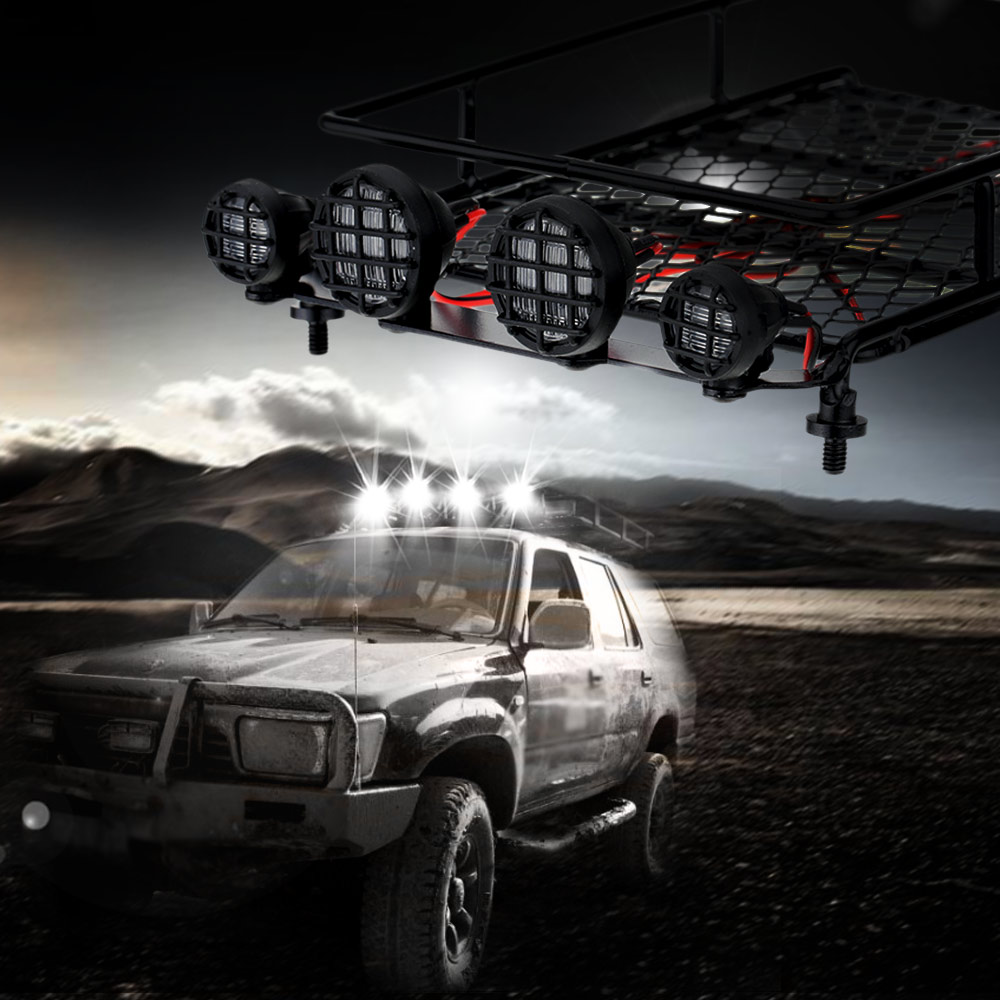1x Roof Luggage Rack w// Light for 1//10 RC Car Rock Crawler D90 AXIAL SCX10
