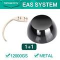 1 шт. 12000gs черный деташер безопасности 1 шт. Detacher крюк ключевые теги для удаления EAS системы