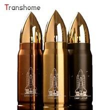 Transhome Frascos de Bala Thermocup Café Termo de Doble Pared de Acero Inoxidable Botella De Deportes Viajes Termo Tazas 350 ML