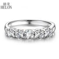 Настоящее кольцо Moissanite из белого золота 14 к, 0.5CT F, цветное обручальное кольцо с подлинным муассанитом, бриллиантовые Свадебные ювелирные из