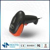 Black Orange Colors CMOS Portable RS232 USB Wired Handheld 1D 2D Barcode Scanner HS 6602