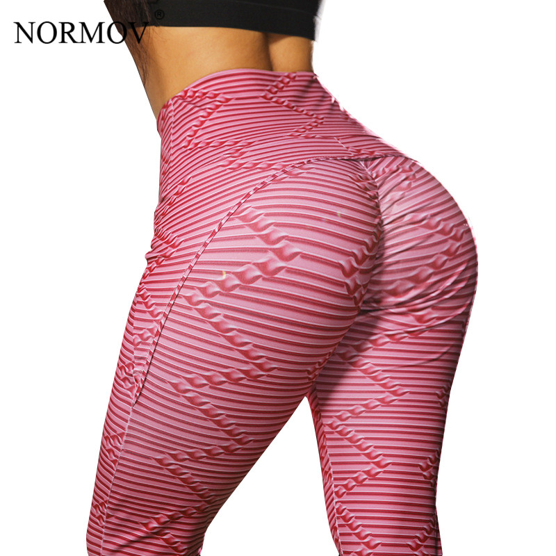 NORMOV Women High Waist Workout   Leggings   3D Digital Printing Fitness   Legging   Activewear Sporting Jeggings Casual Pants Women