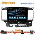 10,2 bildschirm 1024X600 Quadkabel android 4.4 GPS Радио для Mitsubishi Lancer 2006-2015 2 DIN головное устройство стерео WI-FI Bluetooth