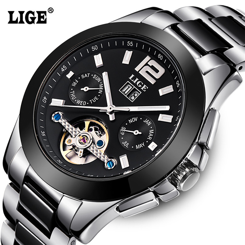 ФОТО Reloj Hombre LIGE Luxury Brand Mens Automatic mechanical Watches Men Casual fashion business Clock Watch men Relogio Masculino