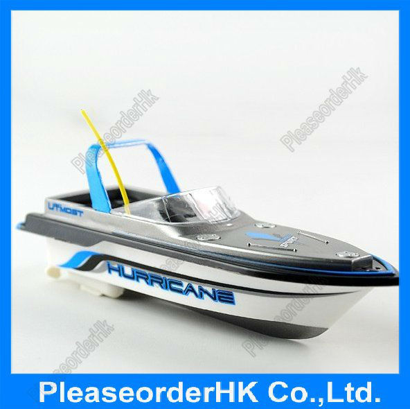 Fashion Blue Mini Radio Control Simulated Boat Model (27 MHz) as A Gift Free Shipping