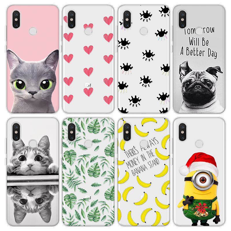 For Cover iPhone X Xs Max XR 5 SE 6s S 7 8 Plus For Xiaomi Mi A1 A2 Mi Mix 2 2S 5X 6X 4 4C 5 5S Plus 6 8 Note 2 3 Puppy TPU Case