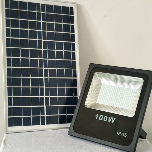 Solar Flood Garden Light Outdoor Wall Landscape Lighting LED Spotlight 100W Floodlight Solar Powered Street Lamp Waterproof IP67
